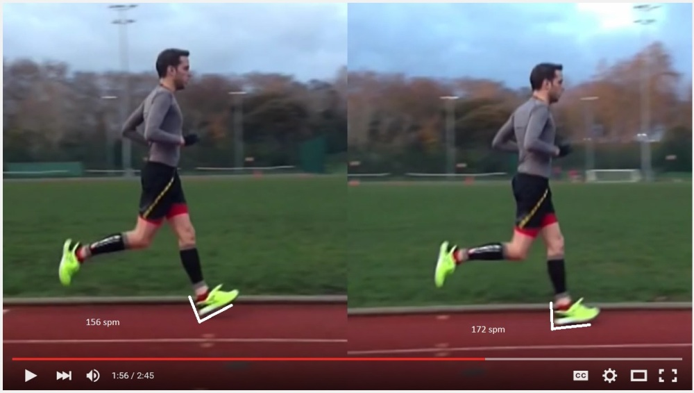 cadence versus stride lenght